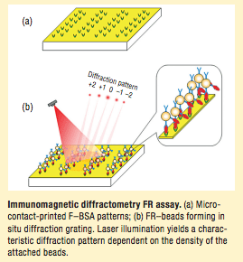 Immunomagnetic diffractometry for biomarker detection